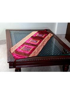 Multi Colour color Velvet Table Runner by Jodhaa