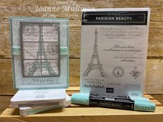 Card showcasing the new Parisian Beauty stamp set from my presentation at OnStage 2019 in Hartford, CT. Created by Joanne Mulligan, Independent Stampin' Up! Paris Cards, Wink Of Stella, Graphic Design Posters, Catalogue, Tour Eiffel, Card Sketches, Stampin Up Cards, Mini, Cardmaking