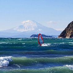 #mtfuji #windsurfing #enoshima