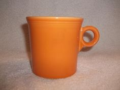 Homer Laughlin Bright Orange Fiesta Fiestaware Coffee Mug Cup Loop Handle USA
