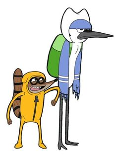 favorite two show in one picture regular show and adventure time
