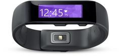 Microsoft Band - fitness wristband tracking heart rate, steps, sleep quality, location, UV exposure. Shows email previews, calendar alerts. Works on iPhone, Android, Windows phones