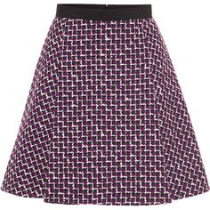 Yanina Demi Couture Wool mini skirt (56.955 RUB) ❤ liked on Polyvore featuring skirts, mini skirts, bottoms, woolen skirt, purple skirt, mini skirt, giambattista valli and short mini skirts