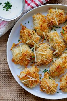 Ranch Chicken Bites - easy chicken nuggets recipe with ranch dressing, panko and Parmesan cheese. Homemade, crispy, moist and so good | rasamalaysia.com