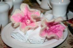 Felted Flower - napkin decoration