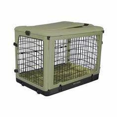 Archie & Oscar™ Archie Slide Aside Pet Crate & Reviews | Wayfair Steel Dog Crate, Large Dog Crate, Large Dogs, Small Dogs, Cat Crate, Wire Dog Crates, Airline Pet Carrier, Garage Door Styles