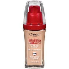 Buy L'Oreal Paris Infallible Advanced Never Fail Makeup, SPF 18, Creamy Natural 607 with free shipping on orders over $35, low prices & product reviews   drugstore.com