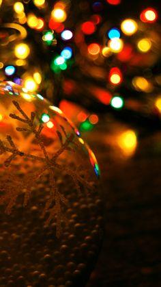 Christmas lights iPhone wallpapers