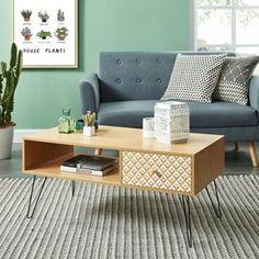 """Cdiscount.com on Instagram  """"Une idée déco parfaite pour un salon scandinave  original ! Réf   IGOR Table basse vintage décor chêne  CdiscountDeco  deco  ... 49955cea2f3c"""