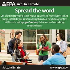 Happy #Earth Day. Today, spread the word about the climate challenge we face to #ActOnClimate.