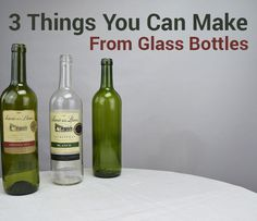 Picture of 3 Things You Can Make From Glass Bottles
