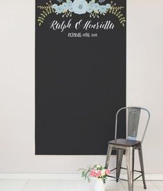 Rustic wedding backdrop with flowers