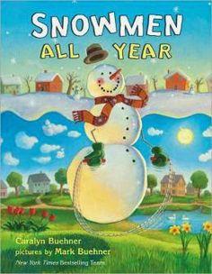 Reading winter snowmen snowman years kids book caralyn buehner