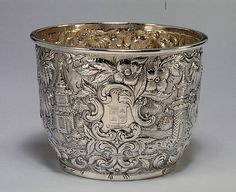 Silver Waste Bowl ca.1845 by Andrew Ellicott Warner (1786-1870), Baltimore, Maryland