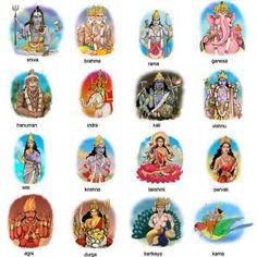Gods of Indian mythology.