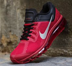 The latest colorway of the Nike Air Max+ 2013 has just hit Titolo. The Hyperfuse built runner comes fitted in gym red and black with a stroke of reflective Nike Shoes Cheap, Nike Free Shoes, Nike Shoes Outlet, Cheap Nike, Nike Outfits, Air Max Sneakers, Sneakers Nike, Zapatillas Casual, Sneaker Magazine