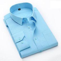 04b75506603c0 2017 Casual Social Formal shirt Men long Sleeve Shirt Business Slim Fit  Office Shirt male Cotton Mens Dress Shirts white 4XL 5XL