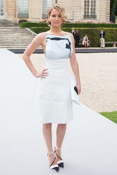 Couture Fashion Week front rows - Jennifer Lawrence in a Dior dress