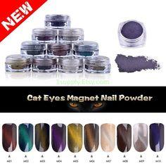 chameleon pigments, glitter powder for Nail chrome pigment, Nail art,  Cat Eye Effect by 1supply on Etsy