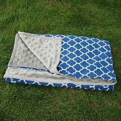 Quatrefoil Baby Blanket Swaddle Blanket Baby Shower Gift