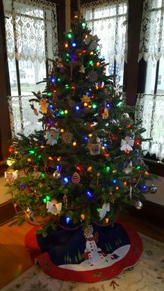 The Christmas tree is up!