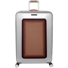78d49d6234fda Ted Baker Bronze Herringbone Suitcase - Large ( 385) ❤ liked on Polyvore  featuring bags