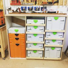 New vidéo! (Link in bio) I made a DIY cabinet for my systainers #systainer #festool #tanos #atelierpassiondubois #wood #woodworking #recycling #recyclage