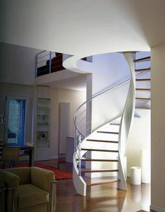 design wendeltreppe interieur idee italienisch rizzi holz beton