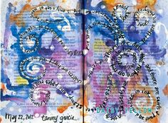 Art Journal Tangents & Tactics: The Series - daisy yellow - Art Journal Pages, Art Journals, Creative Journal, Creative Art, Altered Books, Altered Art, Art Journal Inspiration, Journal Ideas, Distressed Painting