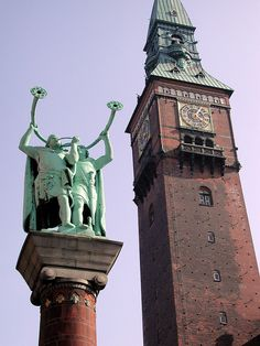 City Hall tower and Vikings...