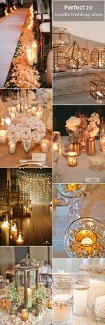 great 20 romantic wedding ideas with candles