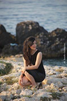 Sayka Alessandra ~ adorable young singer at the beach.