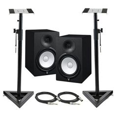Yamaha HS8 Active Studio Monitors (Pair) with Free Stands and Cables at Gear4music.com