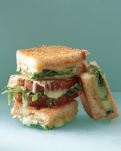 Parmesan-Crusted Grilled Cheese | Martha Stewart Recipes