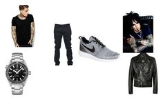 """""""Two out of Three ain't bad"""" by pepper2good4u on Polyvore featuring ASOS, Yves Saint Laurent, NIKE, OMEGA, Criminal Damage, mens, men, men's wear, mens wear and male"""