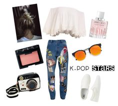 """""""Concert look"""" by afrodille-by-andreea on Polyvore featuring LULUS, Betsey Johnson, Uniqlo, Ashish, Jimmy Choo and NARS Cosmetics"""