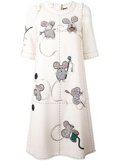 DOLCE & GABBANA  embroidered mouse dress