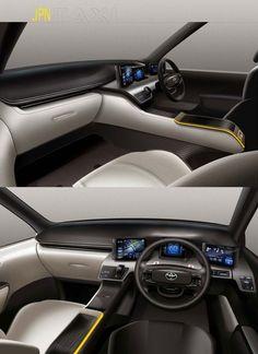 Toyota JPN Taxi Concept - Interior Design Sketches: