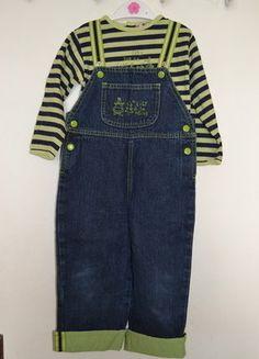 À vendre sur #vintedfrance ! http://www.vinted.fr/mode-enfants/filles-autre/26369228-ensemble-tee-shirt-et-salopette-vert-et-bleu