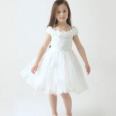 MS68734C kids children puff sleeve 2016 fashion wedding dress girls