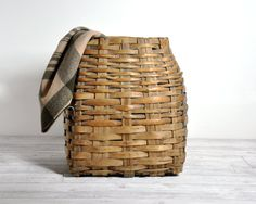 Antique Large Woven Basket by havenvintage on Etsy, $78.00