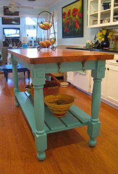 Kitchen Carts and Island Ideas Kitchen cart Kitchen islands and Kitchens - Our favorite kitchen decorating ideas with carts and island. diy rolling plans small-spaces kitchenCART CART may refer to: CARTS may refer to: Farmhouse Kitchen Island, Kitchen Island Table, Kitchen Redo, New Kitchen, Kitchen Remodel, Kitchen Islands, Kitchen Carts, Kitchen Ideas, Homemade Kitchen Island