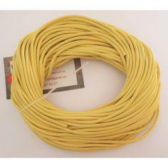 Cordón cuero amarillo 3 mm.