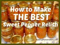 Sweet Pepper Relish (Sub some hot peppers for some of the sweet peppers to make a sweet-hot pepper relish)
