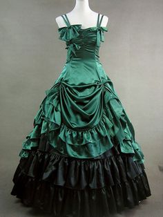 Gothic Lolita Dresses - but red or deep purple instead of the green