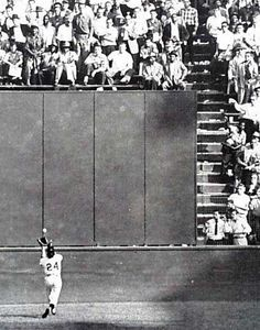 """The Catch""  One of the most memorable plays in baseball history.Willie Mays' over the shoulder catch in the 1954 World Series.The New York Giants went on to win the Series 4-0."