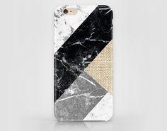 Handyhülle mit geometrischen Formen in beliebter Marmor-Optik/ phone case with geometric patterns, marble look made by  Zo-Han via DaWanda.com