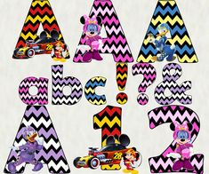 Mickey & the Roadster Racers Alphabet & Numbers Mickey & the Roadster Racers Party Ideas
