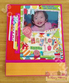 birthday folio using kathy orta's foto folio style 2 tutorial