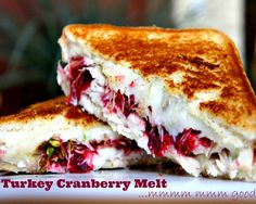 This Turkey & Cranberry melt is #tasty sandwich to help use up those Thanksgiving Day #leftovers but is good any time of year!